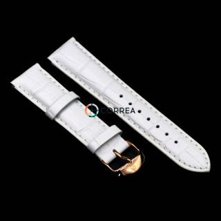 Ремінець шкіряний для годинника Золотий Вік білий RBZV-003