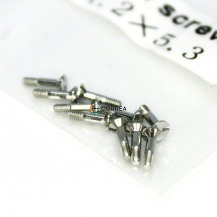 Гвинти для безеля годинника Hublot 1,2х5,3 (10 штук) білий FVZK-002 - 4