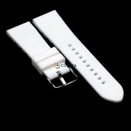 Каучуковый ремешок для часов Armani AR 5878 белый RKА-002 - 10