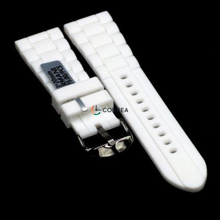 Каучуковый ремешок для часов Armani AR 5878 белый RKА-002 - 8