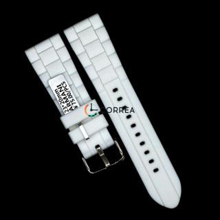 Каучуковий ремінець для годинника Armani AR 5878 білий RКA-002