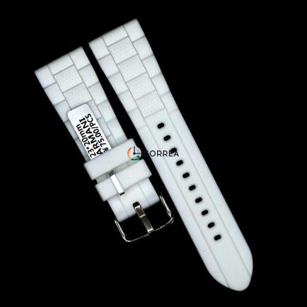 Каучуковый ремешок для часов Armani AR 5878 белый RKА-002 - 6