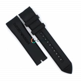 Ремінець для годинника Armani AR5979 AR5985 чорний RKА-003