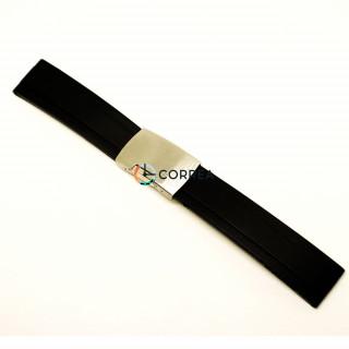 Каучуковый ремешок для часов Rolex Yacht-Master черный RKR-001