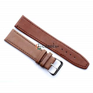 Ремешок из кожи LUX-Poland коричневый RPK-003
